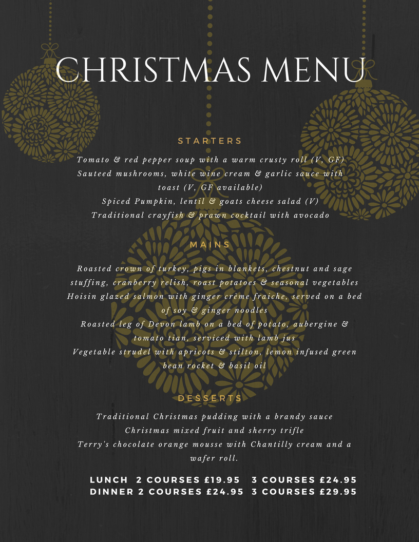 New Christmas Menu Launched - Invicta Hotel