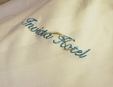 Invicta Hotel embroidery